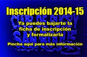 Incscripcion 2014-15
