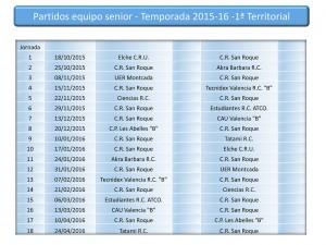 C.R. San Roque - Equipo Senior. Partidos 2015-16
